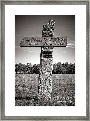 Gettysburg National Park 142nd Pennsylvania Infantry Monument Framed Print by Olivier Le Queinec