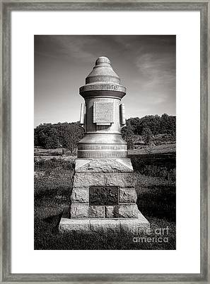 Gettysburg National Park 30th Pennsylvania Infantry Monument Framed Print by Olivier Le Queinec