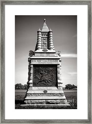 Gettysburg National Park 6th New York Cavalry Monument Framed Print by Olivier Le Queinec