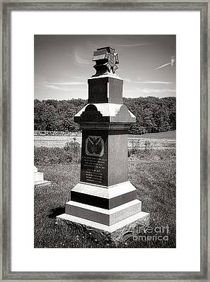 Gettysburg National Park 6th Wisconsin Iron Brigade Monument Framed Print by Olivier Le Queinec