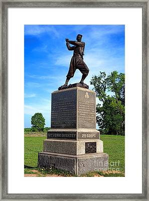 Gettysburg National Park 72nd Pennsylvania Infantry Memorial Framed Print by Olivier Le Queinec