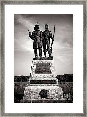 Gettysburg National Park 73rd Ny Infantry 2nd Fire Zouaves Monument Framed Print by Olivier Le Queinec