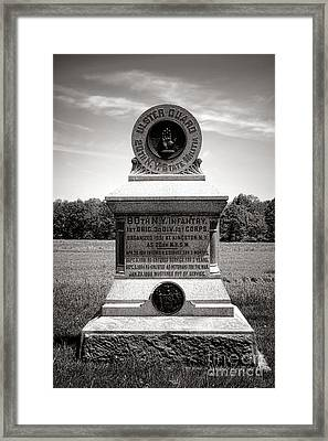 Gettysburg National Park 80th New York Infantry Militia Monument Framed Print by Olivier Le Queinec