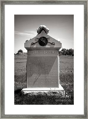 Gettysburg National Park 8th Illinois Cavalry Monument Framed Print by Olivier Le Queinec