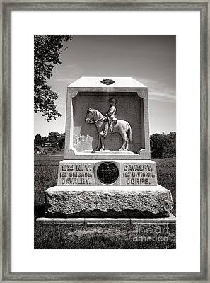 Gettysburg National Park 8th New York Cavalry Monument Framed Print by Olivier Le Queinec