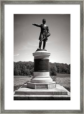 Gettysburg National Park James Samuel Wadsworth Monument Framed Print by Olivier Le Queinec