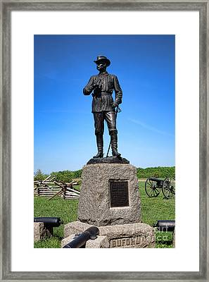 Gettysburg National Park Major General John Buford Memorial Framed Print by Olivier Le Queinec