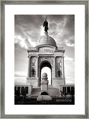 Gettysburg National Park Pennsylvania State Memorial Monument Framed Print by Olivier Le Queinec