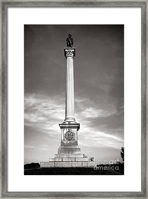 Gettysburg National Park Vermont Stannard Brigade Monument Framed Print by Olivier Le Queinec