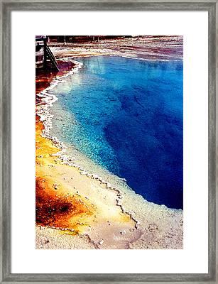 Geyser Basin Framed Print by Nancy Mueller