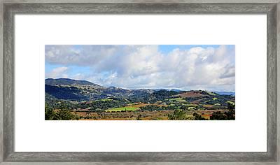Geyserville Panorama Framed Print by Pauline Darrow