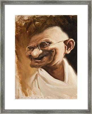 Ghandi Framed Print by Court Jones