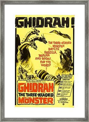 Ghidrah, The Three-headed Monster Framed Print by Everett