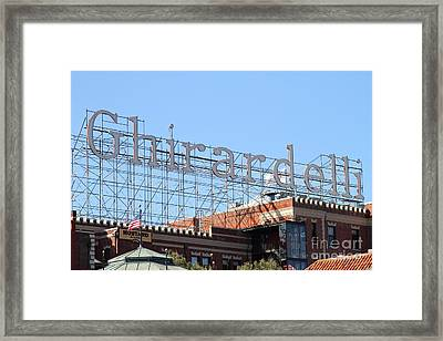 Ghirardelli Chocolate Factory San Francisco California . 7d13979 Framed Print by Wingsdomain Art and Photography