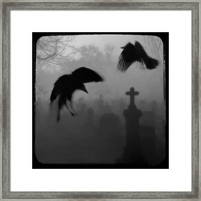 Ghost Crows Framed Print by Gothicolors Donna