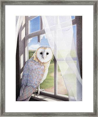 Ghost In The Attic Framed Print by Amy S Turner
