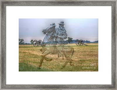 Ghost Of Gettysburg Framed Print by Randy Steele