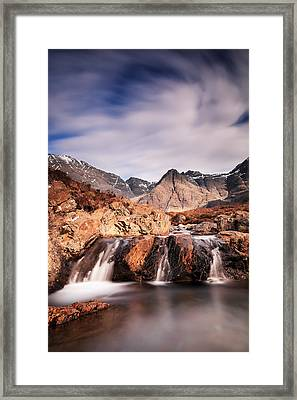 Ghost Of The Fairy Pools Framed Print by Grant Glendinning