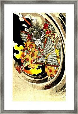 Ghost Of Warrior Tomomori 1880 Framed Print by Padre Art