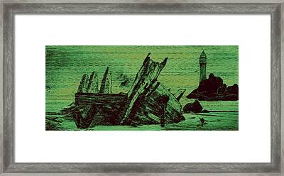 Ghost Shipwreck Framed Print by Ken Figurski