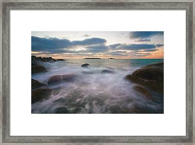Ghost Tides Framed Print by Mike  Dawson