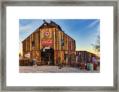 Ghost Town Barn Framed Print by Susan Candelario