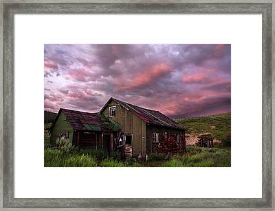 Ghost Town Sunset 1 Framed Print by Dave Dilli
