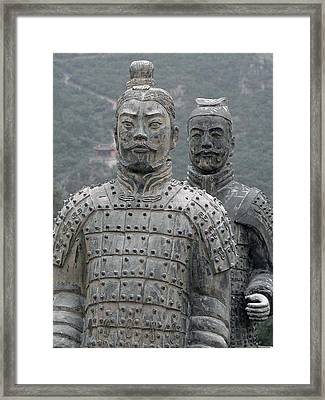 Ghost Warriors Framed Print by Jean Hall