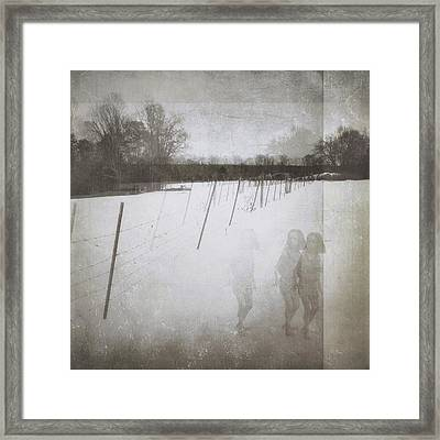 Ghosts And Shadows IIi - The Three Framed Print by Melissa D Johnston