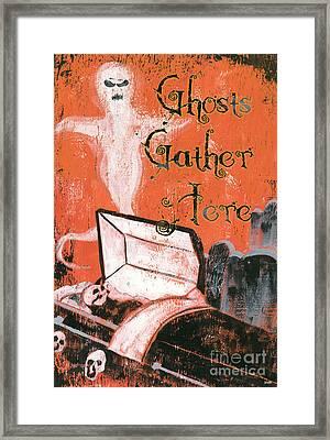 Ghosts Gather Here Framed Print by Debbie DeWitt