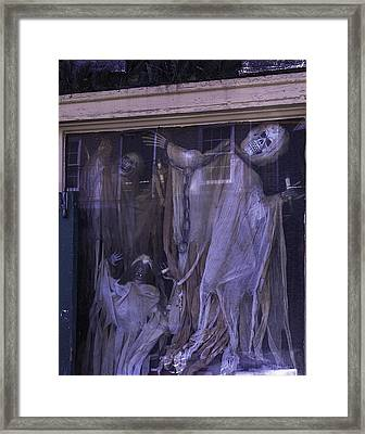 Ghosts In Window Framed Print by Garry Gay