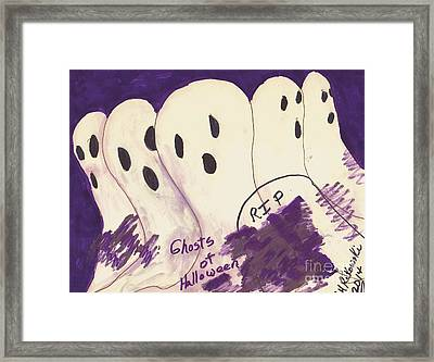 Ghosts Of Halloween Framed Print by Elinor Rakowski