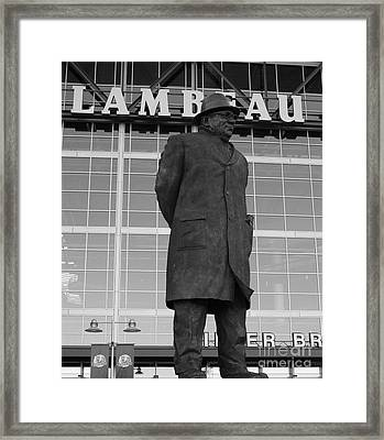 Ghosts Of Lambeau Framed Print by Tommy Anderson
