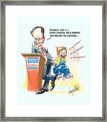Ghwb Election Framed Print by Harry West