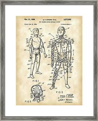 G.i. Joe Patent 1964 - Vintage Framed Print by Stephen Younts