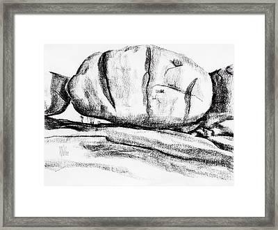 Giant Baked Potato At Elephant Rocks State Park Framed Print by Kip DeVore