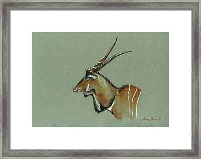 Giant Eland Framed Print by Juan  Bosco