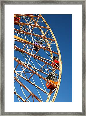 Giant Wheel Framed Print by James Kirkikis