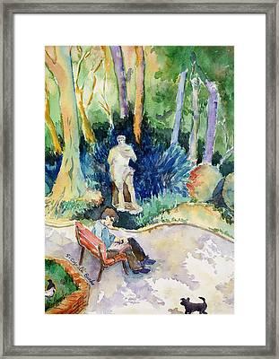 Giardini Publici Framed Print by Susan Cafarelli Burke