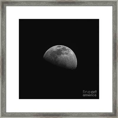 Gibbous Moon Framed Print by Phillip Jones