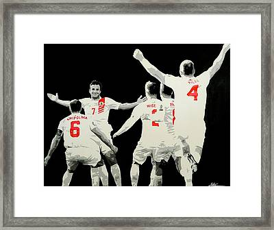 Gibraltar Score Against Scotland Framed Print by Scott Strachan