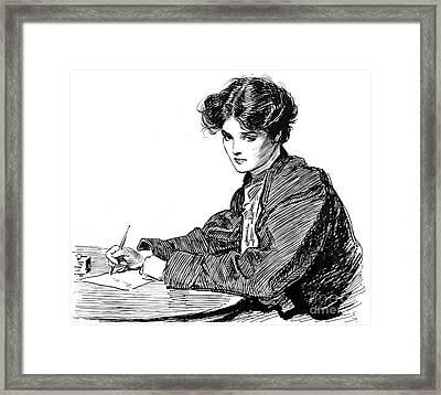 Gibson: Drawings, C1900 Framed Print by Granger