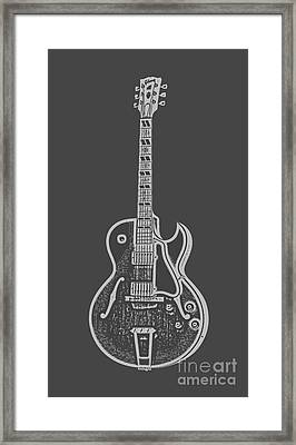 Gibson Es-175 Electric Guitar Tee Framed Print by Edward Fielding