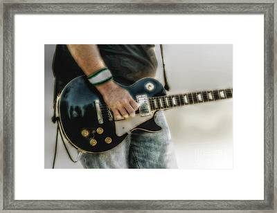 Gibson Les Paul Guitar Player Two Framed Print by Randy Steele