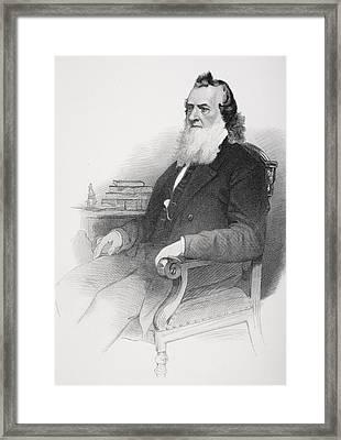 Gideon Welles 1802 To 1878. U.s Framed Print by Vintage Design Pics