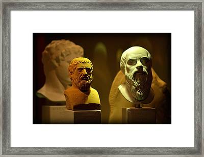 Gift Shop - Getty Museum Framed Print by Stan Askew