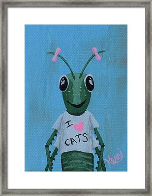 Gigi The Grasshopper's School Picture Framed Print by Kerri Ertman