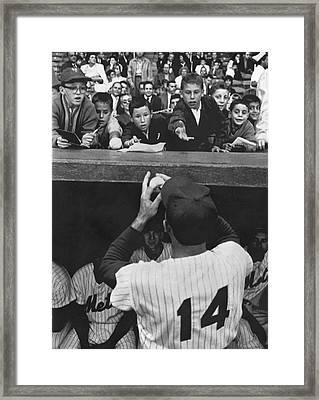 Gil Hodges Baseball Fans Framed Print by Underwood Archives