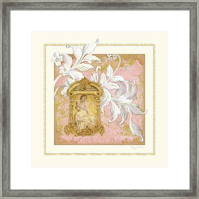 Gilded Age I - Baroque Rococo Palace Ceiling Inspired  Framed Print by Audrey Jeanne Roberts