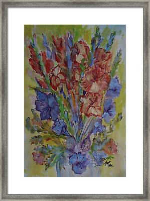 Gilded Flowers Framed Print by Charme Curtin